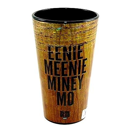 JustFunky Martillo oficial AMC The Walking Dead Eenie Meenie Miney Mo textura de madera impreso cerveza