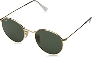 Amazon.com: Ray-Ban ROUND METAL - ARISTA Frame CRYSTAL GREEN ...
