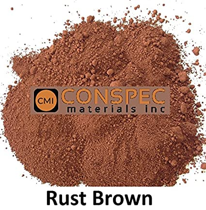 Conspec 1 Lbs. RUST BROWN Powdered Color for Concrete, Cement ...