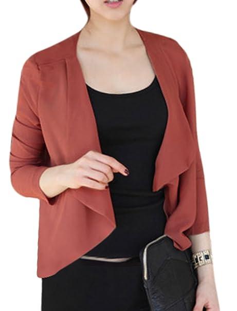Traje de neopreno para mujer apertura frontal ajuste en el dobladillo bajo Irregular Pack de chaqueta para ocio y tiempo libre: Amazon.es: Ropa y accesorios