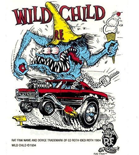 10pcs Rat Fink Ed Roth Graffiti RACE Hot Rods Vinyl Decal Bike Stickers
