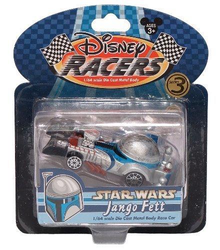 Walt Disney Theme Park Exclusive 1/64 Scale Die Cast Metal Body Race Car - Star Wars (Jango Fett)