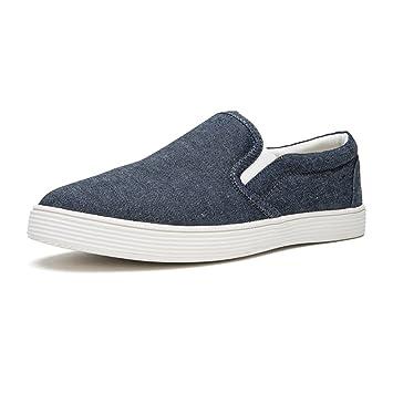 Zapatos YIXINY Deporte H30M8507 Carrefour Planos Cabeza Redonda Conjunto De Pies Casuales Moda Lona Alpargatas Azul