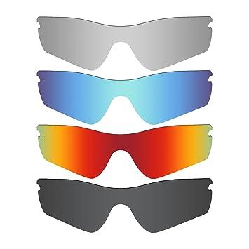 8bdf0f8957 MRY 4 Pares polarizadas Lentes de Repuesto para Oakley Radar Path Sunglasses-Stealth  Negro/Fuego Rojo/Hielo Azul/Plata Titanio: Amazon.es: Deportes y aire ...