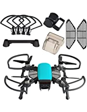 Kuuqa Kits de accesoriospara Dji Spark, incluidos 2 en 1 Helix Guard con tren de aterrizaje plegable, Gimbal Camera Guard, Lens Hood, Finger Card, Joystick Protector (Dji Spark no incluido)