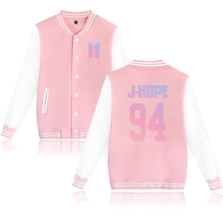Dolpind BTS Love Yourself Baseball Jacket Bangtan Boys Merchandise Jimin Jungkook Hoodie