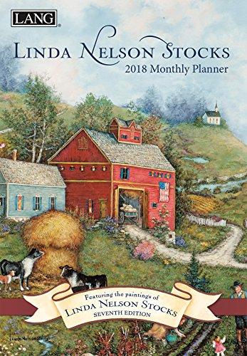"""LANG - 2018 Monthly Planner - """"Linda Nelson Stocks"""" , Artwork By Linda Nelson Stocks - 13-Month: January 2018 - January 2019 - 8.5"""" x 12"""""""