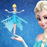 Cewaal Frozen Flying Fairy Princess,Infrared Induction Control,Flying Fairy Doll,Fly Christmas Toy Gift For Girls