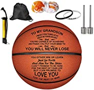Engraved Basketball for Son - Personalized Basketball Indoor/Outdoor Game Ball for Son - Custom Christmas Birt
