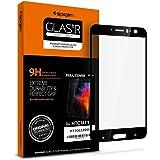 【Spigen】 HTC U11 ガラスフィルム 対応 全面保護フィルム 液晶強化ガラス 【フルカバー】 9H硬度 發油加工 H11GL22048 (ブラック)