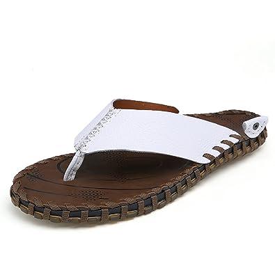 Z.SUO En cuir confortable Flip Flop Sandales Tongs homme(38 EU,