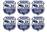 united states plastic puzzle - 6 Pc Amazing Unique Warning Video Surveillance 24 Hour Electronic Monitoring Security Sticker Sign Property Protected Door Reflective Under Cameras Protect Post Trespassing Signs Size 4