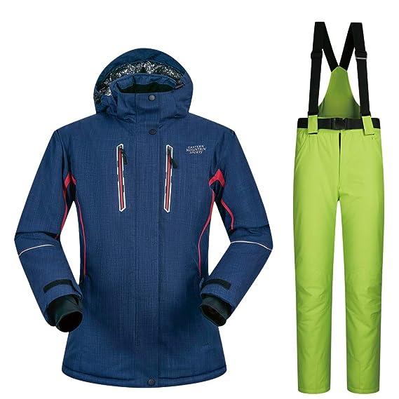 Wasserdicht Damen Ski Hose 2 Winddicht Set Femme Costume Skijacke BodCerx