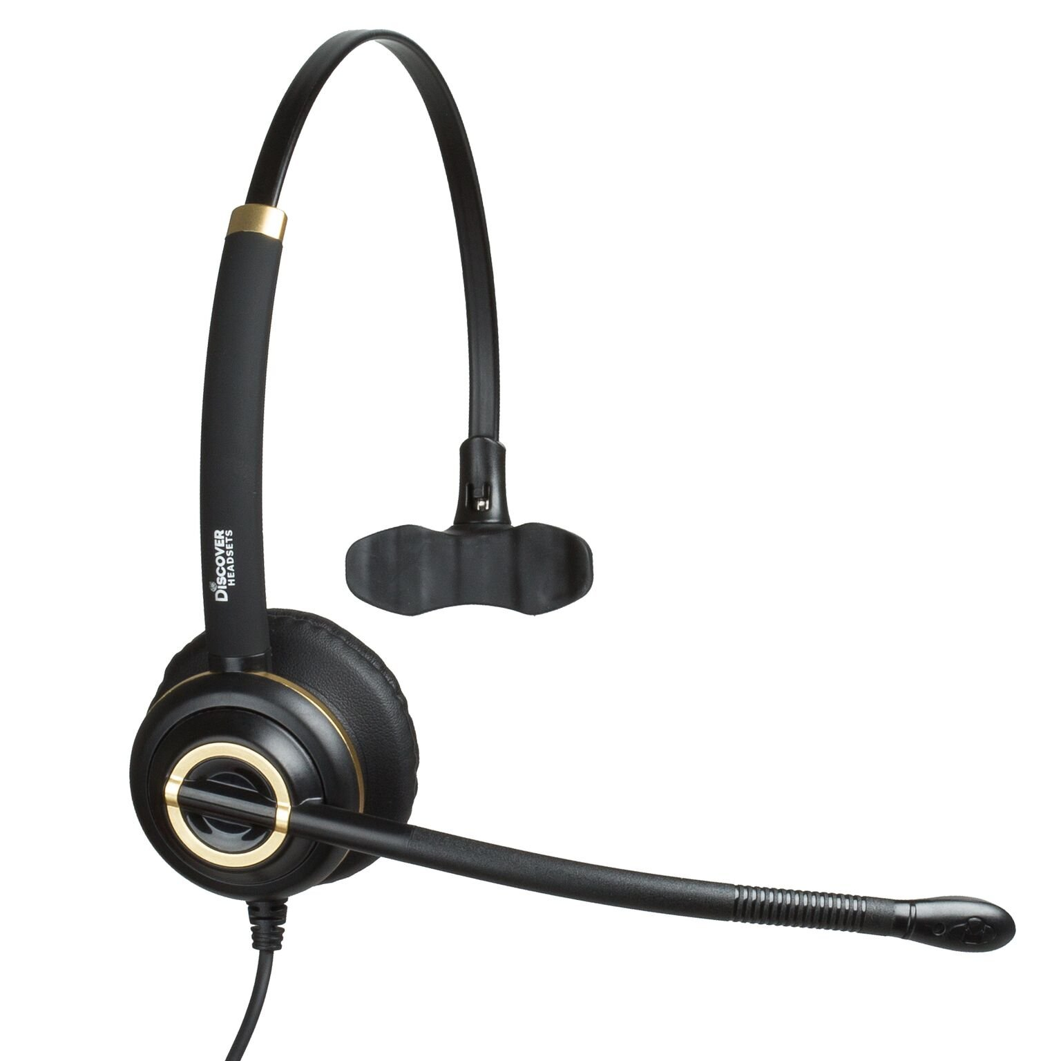 Discover D711 Deluxe Mono Wired Telephone Headset For Office Workers and Call Center Agents- 3 Year Warranty