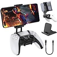 OIVO PS5 Controller için cep telefonu tutucu, PS5 Controller telefon tutucu, ayarlanabilir kıskaçlı klips tutucu, Sony…