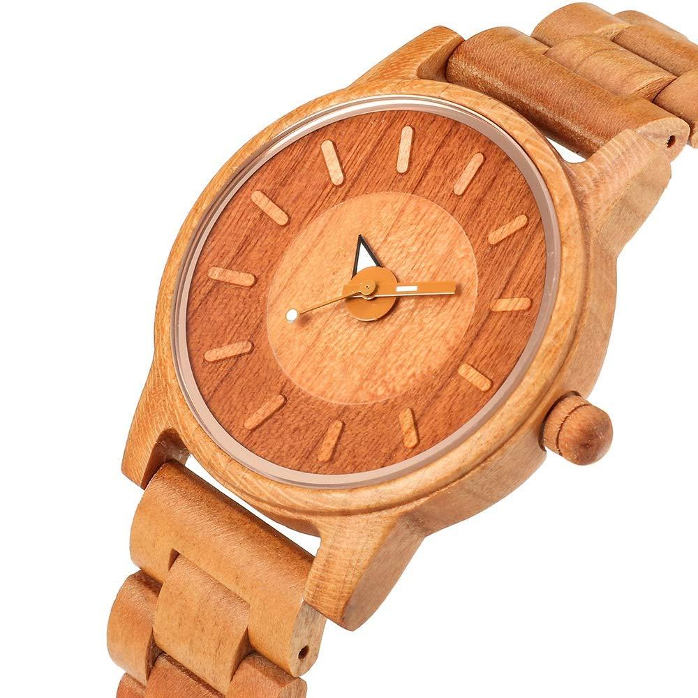 Klockor #handled herrmode kalender kvarts klocka, par träklocka, dekoration (färg: B) a