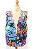 RETRO DESIGN WAISTCOAT FUN & FANCY FOR ALL OCCASIONS FESTIVAL PARTIES SMALL,MEDIUM,LARGE,XLARGE SIZES AVAILABLE