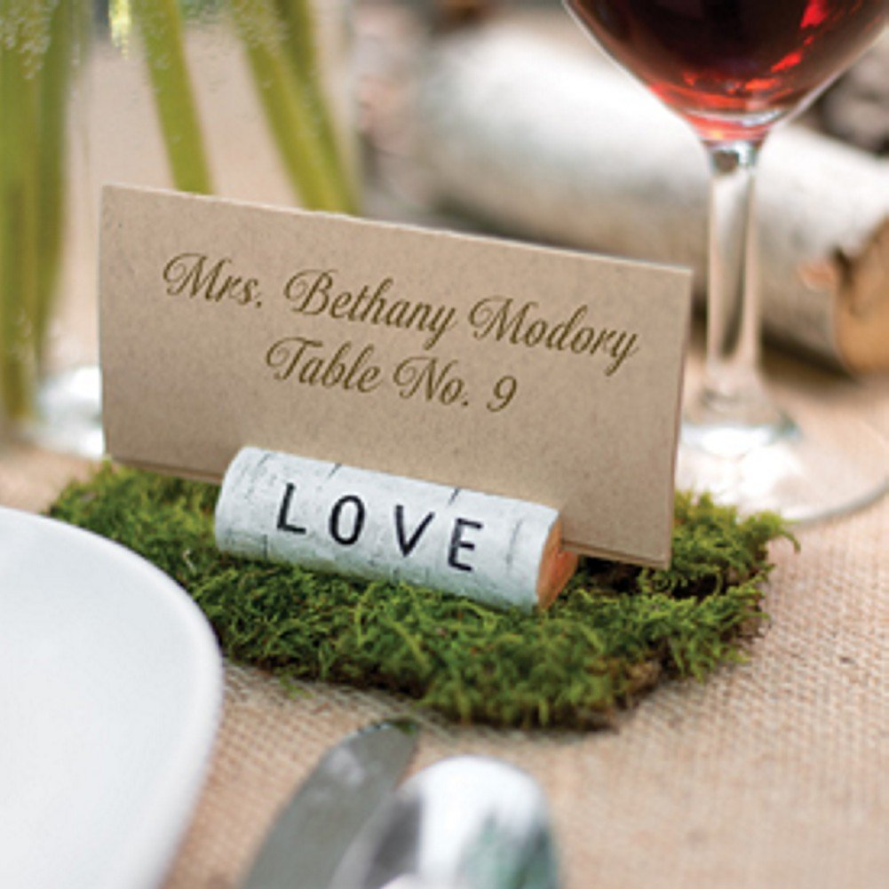 Rustic Love Card Holder - Set of 30