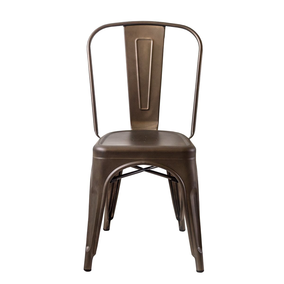 Amazon.com - Buschman Set of Four Bronze Tolix-Style Metal Indoor/Outdoor Stackable Chairs with Back - Chairs  sc 1 st  Amazon.com & Amazon.com - Buschman Set of Four Bronze Tolix-Style Metal Indoor ... islam-shia.org