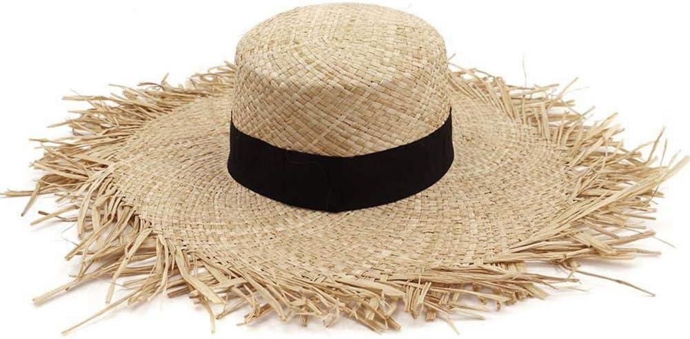 Sombrero De Panama Tradicional De Paja Casual Protección Solar, Protección UV, Adecuado para Acampar En La Playa, Mujer.