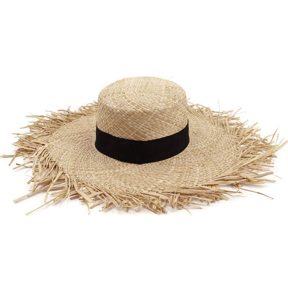 Basisago Sun Hats For Women,Women's Panama Roll Drafting Cap, Adjustable Beach Sun Hat, Suitable for Beach Camping Travel Fishing Sunscreen UV Protection