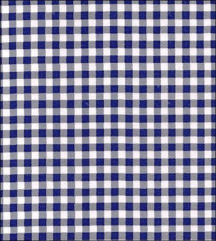 Navy Sage - Round Freckled Sage Oilcloth Tablecloth in Gingham Navy - You Pick the Size!