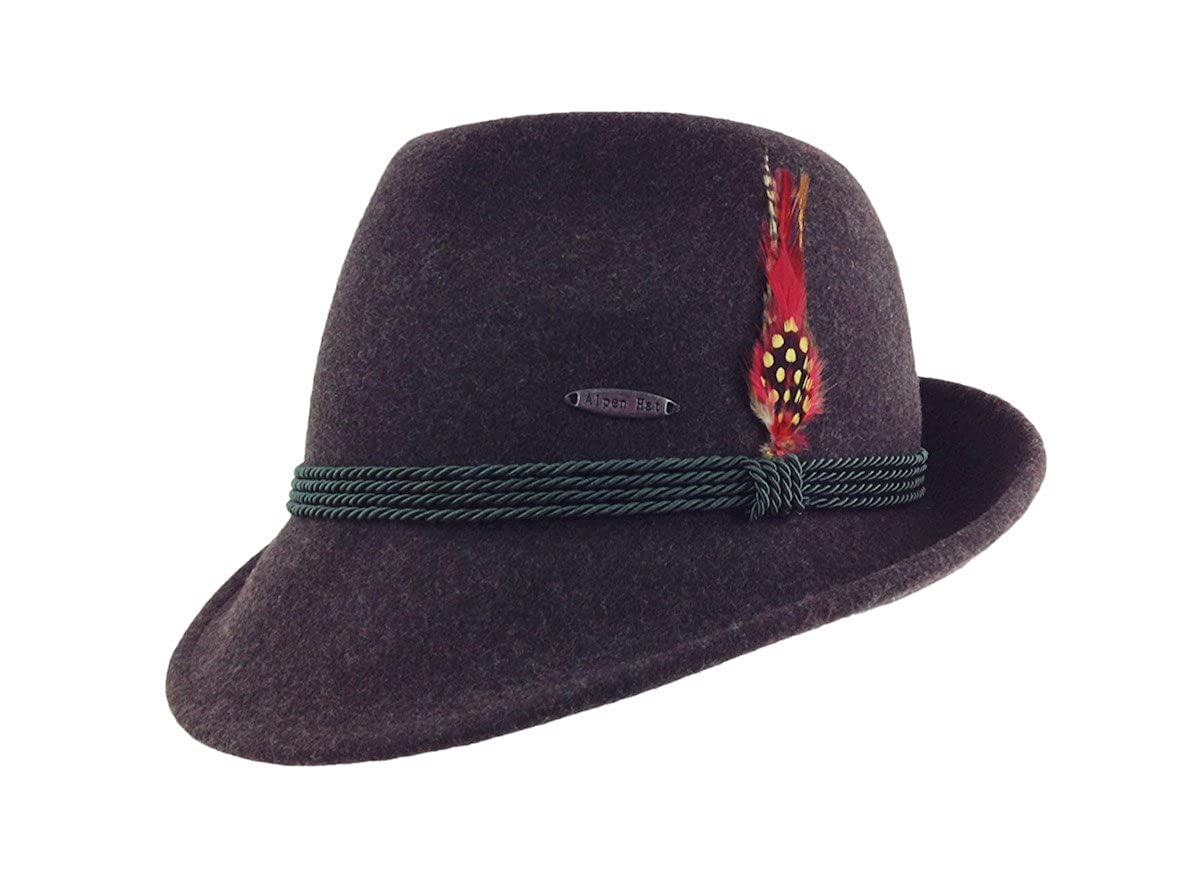 Essence Of Europe Gifts Men's Austrian Wool Hat W/Feather H902-$P
