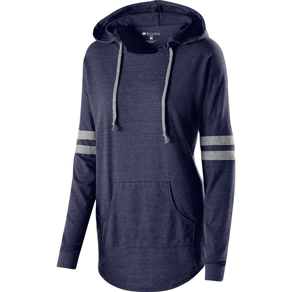 Holloway Womens Low Key Hoodie Navy//Grey XL