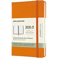Moleskine 2020-21 Weekly Planner, 18m, Pocket, Cadmium Orange, Hard Cover (3.5 X 5.5)
