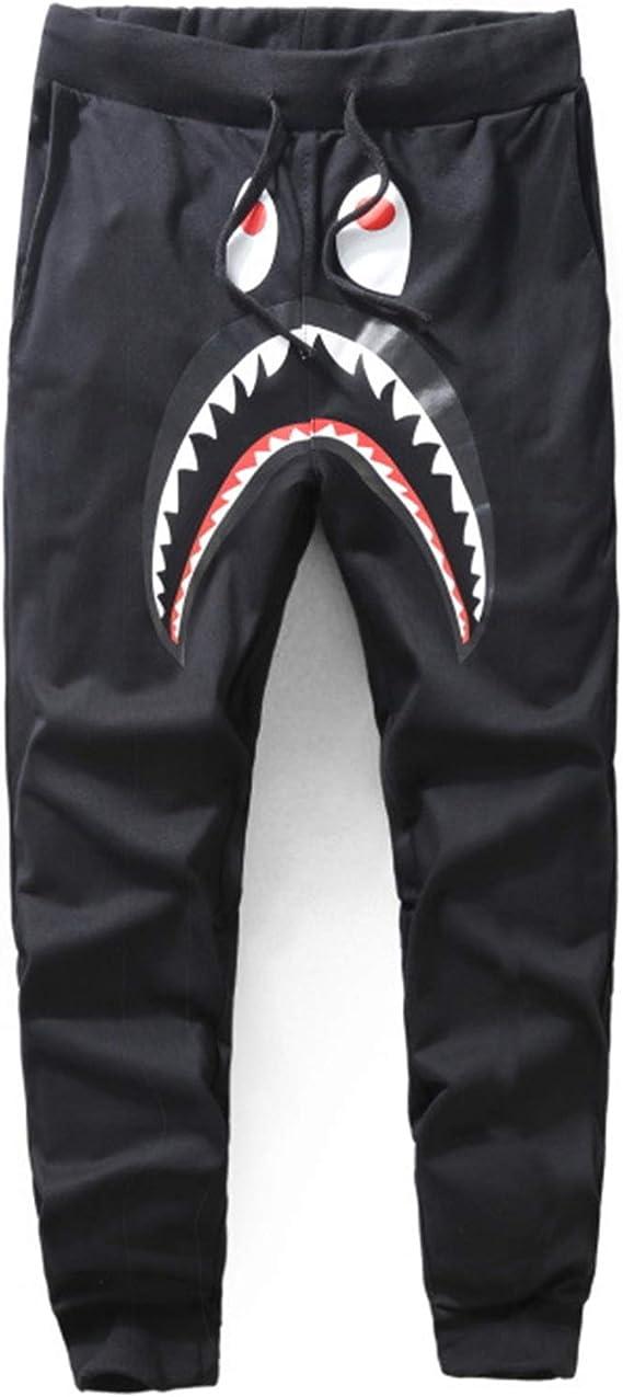 NEW Bape A Bathing Ape Shark Head Trousers Mens Sports Casual Cotton Sweat Pants