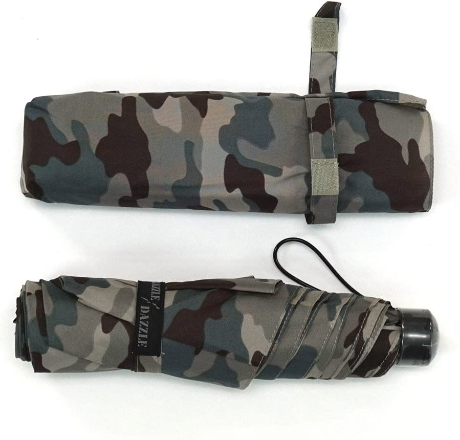 Attain KIDS lightweight mini folding Tatamikasa ribs 55cm Ponzi Kamofura pattern black 5165
