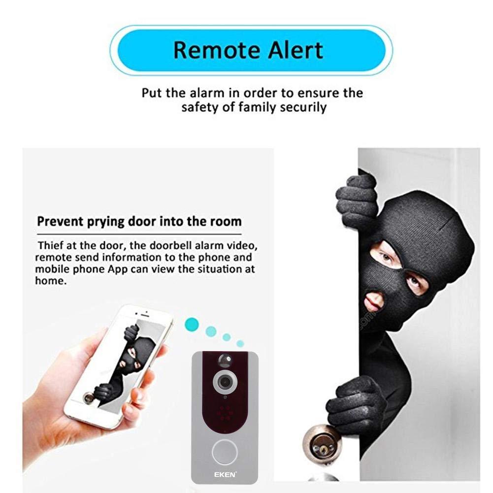 YouN EKEN V7 1080P Wifi Two-Way Visual Night Vision PIR Camera Doorbell Black