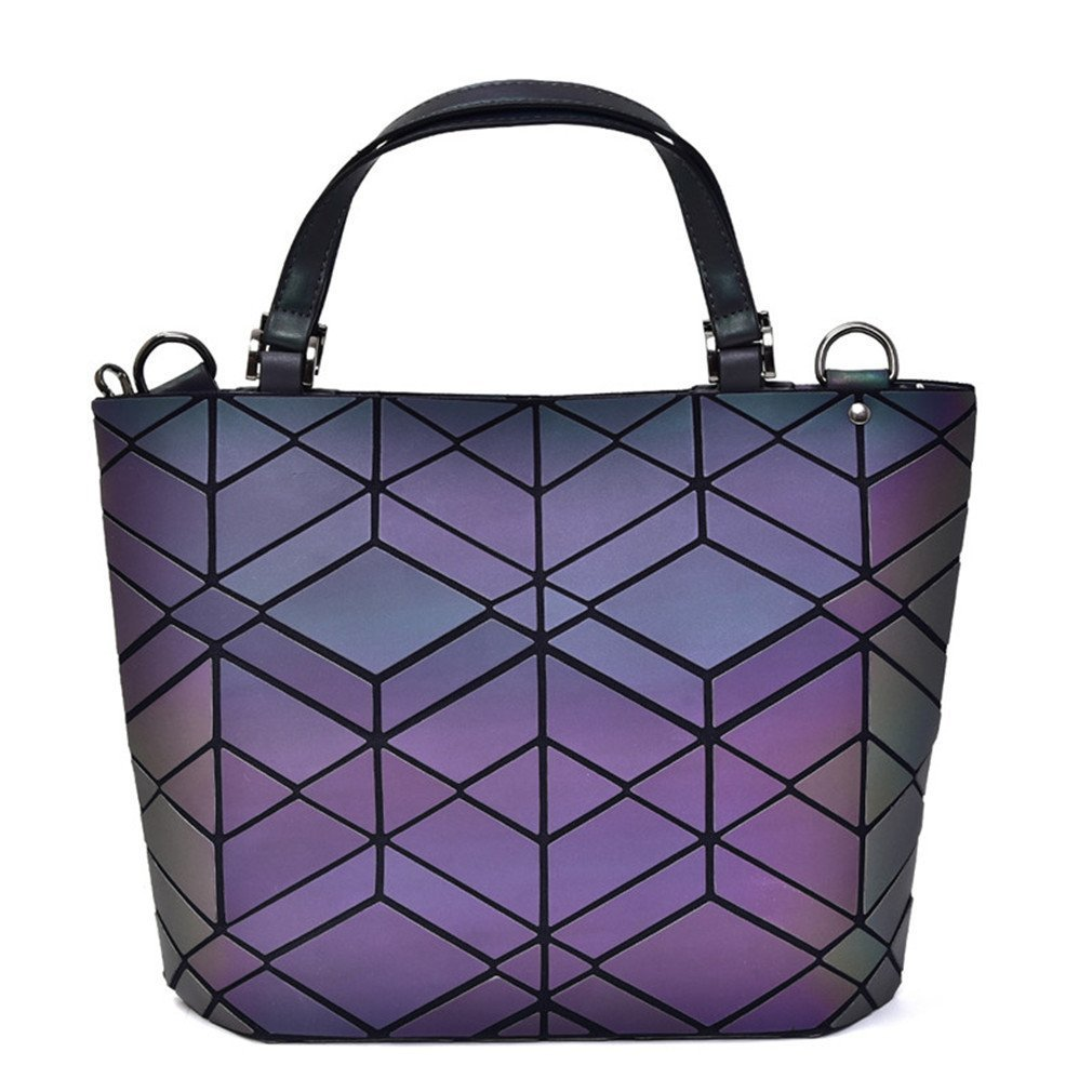 Bag Women's Geometry Lattic Totes Bag Handbag Plain Folding Ladies Handbags Bolsa MS3244-10