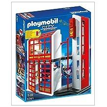 PLAYMOBIL Fire Station with Alarm Set by Playmobil - Cranbury