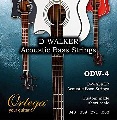 Ortega Guitars ODW-4 Acoustic Bass Strings for Ortega D-Walker Short Scale Basses (Acoustic Basses)