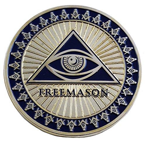 Square /& Compass Round Antique Brass Masonic Auto Emblem 3 Diameter