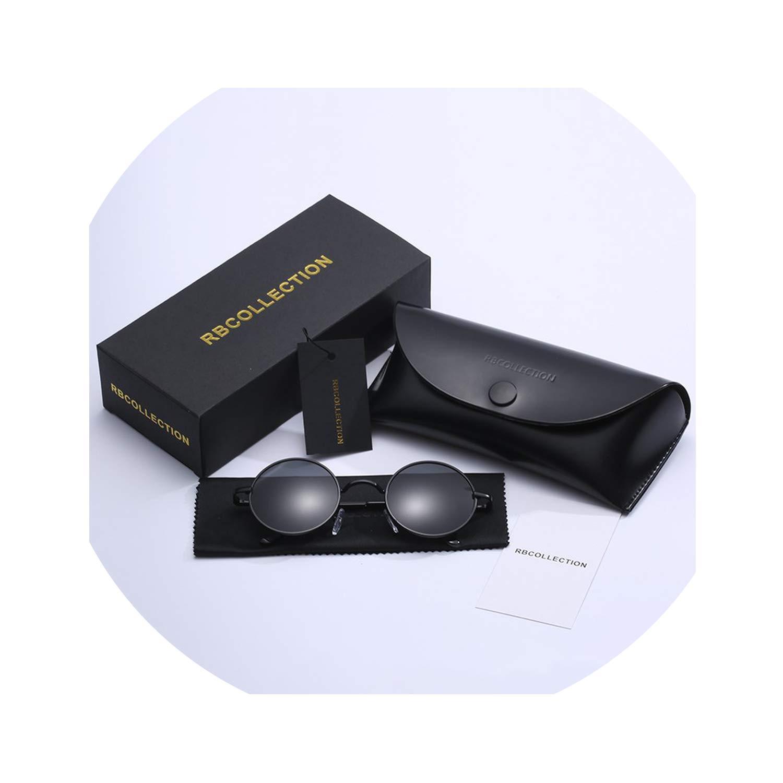 Amazon.com: Round Sunglasses Men Women Anti-UV Polarized ...