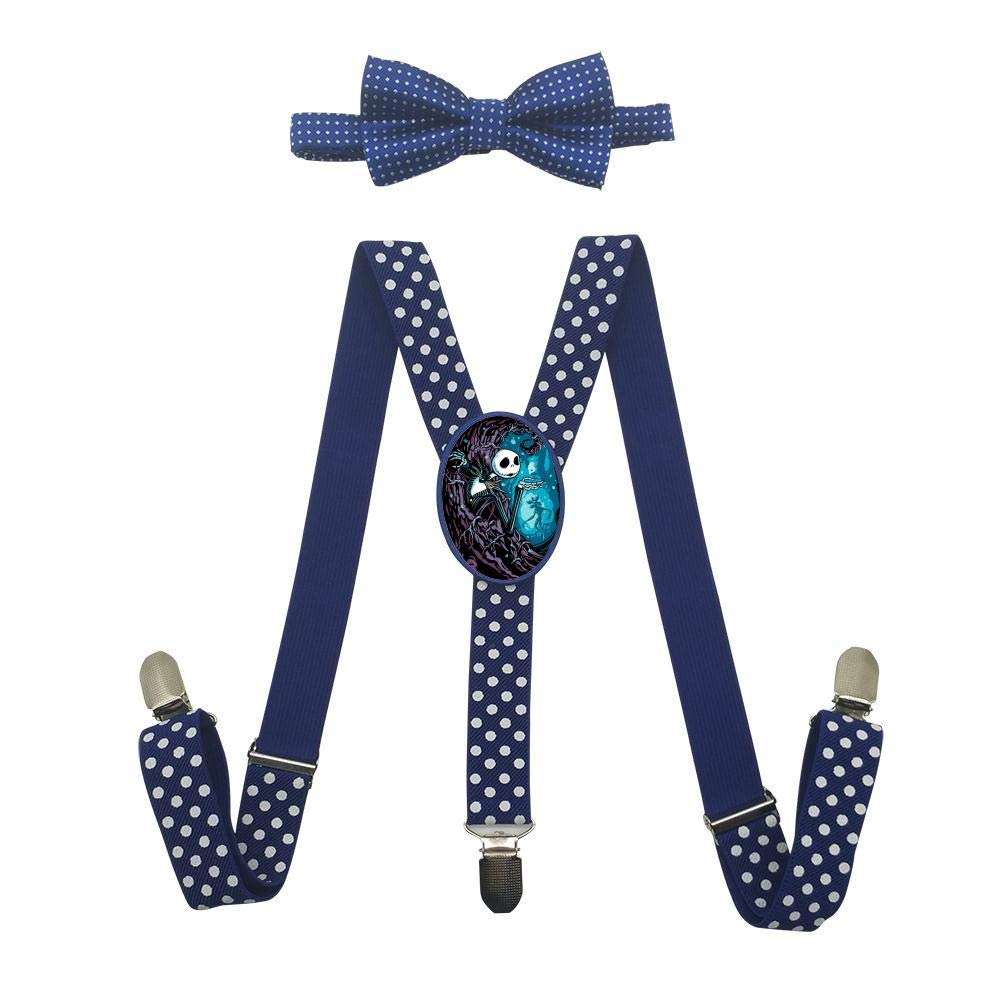 Night-Mare-Jack Unisex Kids Adjustable Y-Back Suspenders With Bowtie Set