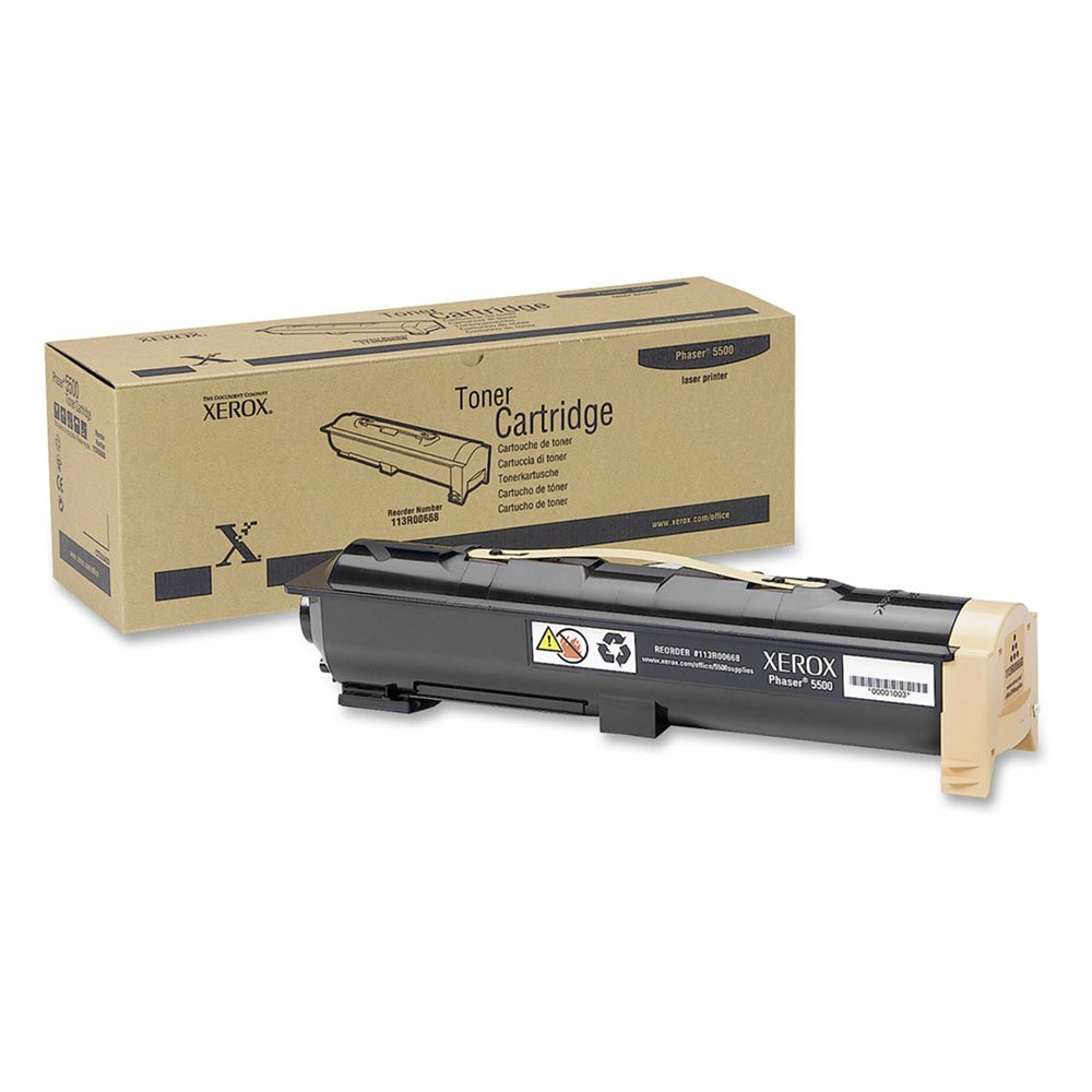 Genuine Xerox Black Toner Cartridge for the Phaser 5500, 113R00668 by Xerox (Image #2)