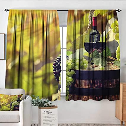 Amazon.com: familytaste Wine,Kitchen Curtains Agriculture ...