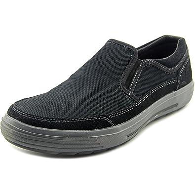 SKECHERS Men's Classic Fit Proter - Vesco Black Mesh/Suede Shoe