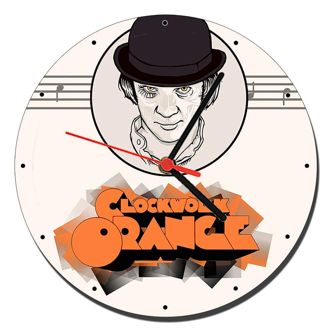 Mástil Azas a Clockwork Orange Malcolm McDowell B Relojes de Pared ...