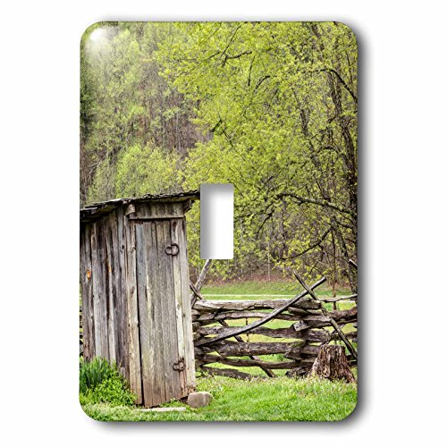 3dRose Danita Delimont - North Carolina - Outhouse, Pioneer Homestead, Great Smoky Mountains NP, North Carolina - Light Switch Covers - single toggle switch - Homestead Outlets