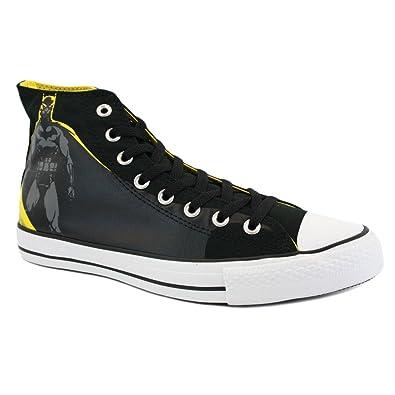 26e894c8f66 Converse Chuck Taylor DC Comics Batman 119939 Mens Laced Canvas Trainers  Black Yellow - 8  Amazon.co.uk  Shoes   Bags