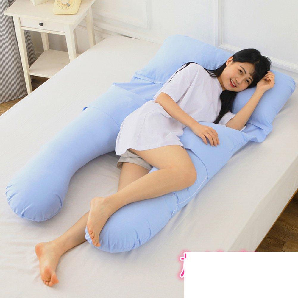 HDSGFDSHGK pregnancy pillow waist side sleeping pillow sleep u-pillow multi-functional pillow pregnancy supplies sleeping pillow cushion-I 150x85cm(59x33inch)