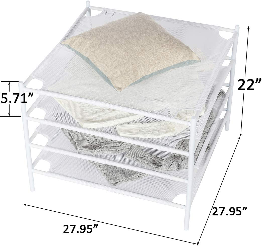 Trocken Gestell stapelbar 71 x 71 cm Dry Rack Netz