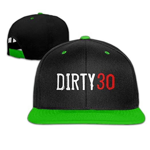 JLPOU 6 Mens Womens Hip Hop Hats 30th Birthday Dirty 30 Adjustable Flat Peaked Baseball Cap At Amazon Clothing Store