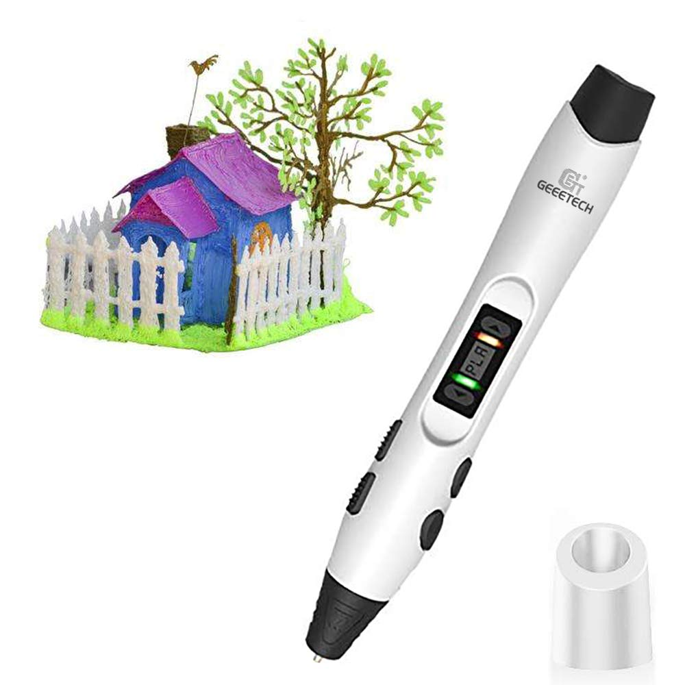 3D Pen, GEEETECH 3D Pen with Intelligent LCD Screen Compatible with PLA/ABS/PCL Filament 1.75mm