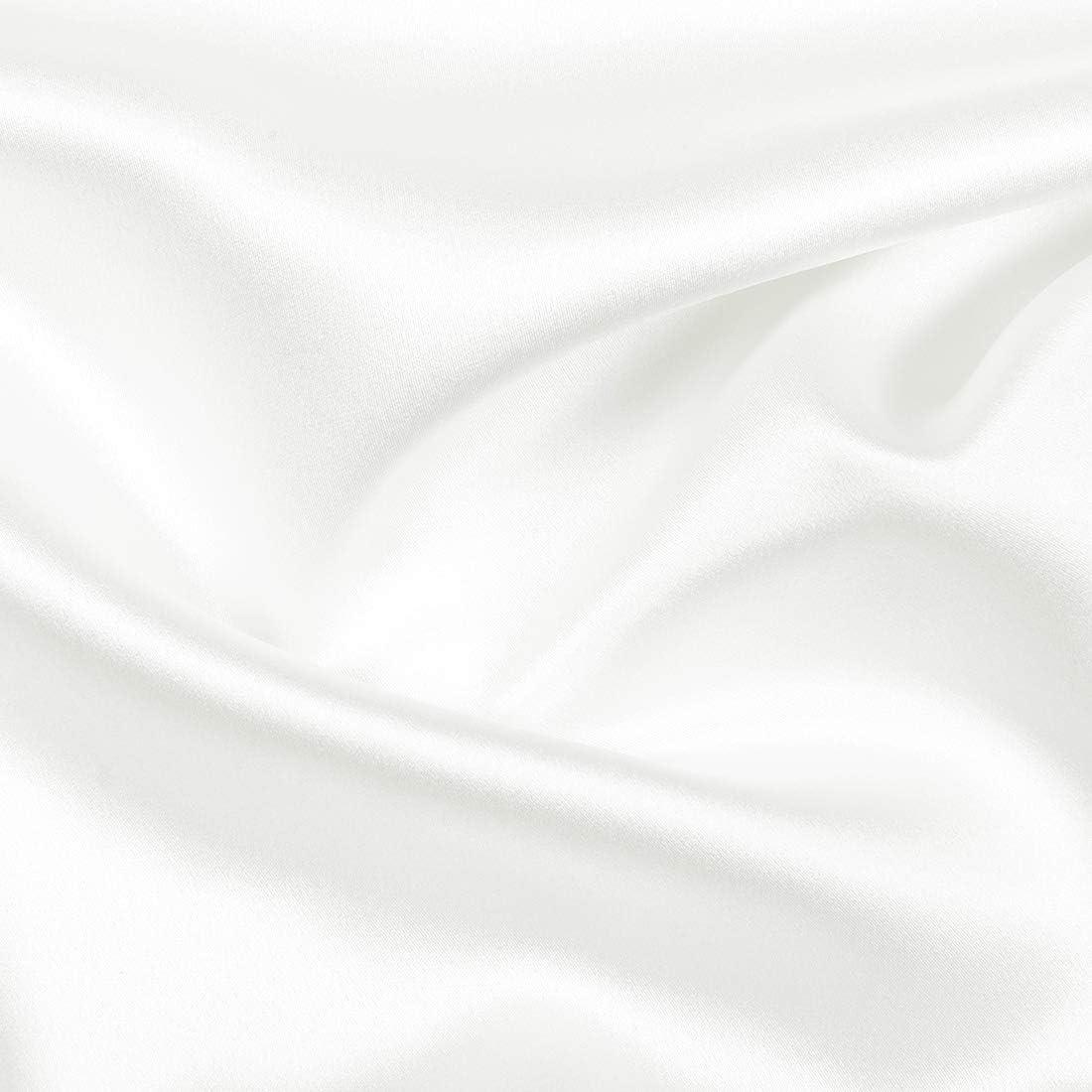 Soin Respirant pour la Peau et Les Cheveux Queen King 1 pi/èce Standard Blanc PICCOCASA Taie doreiller en Soie avec Deux c/ôt/és 22 Momme Pure Soie King Size