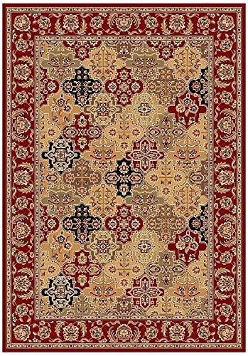Red Kashan Panel - KAS Oriental Rugs Cambridge Collection Kashan Panel Area Rug, 9'10